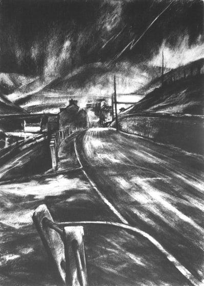 David Carpanini PPRE Hon. RWS Thunder Mountain, Darkness Visible etching AP ed of 20