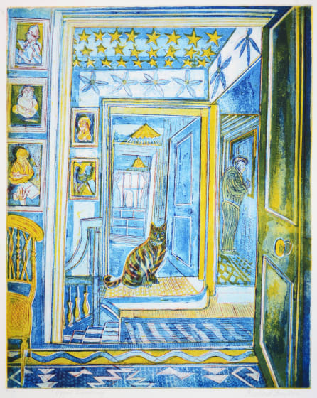 Richard Bawden RWS RE Top Landing etching 72 x 59cm 3/85