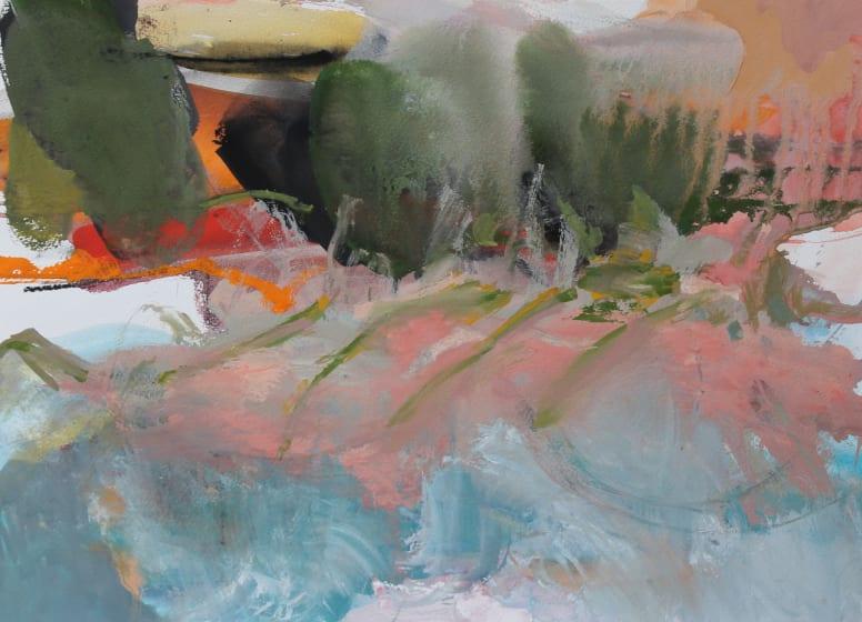 "<span class=""artist""><strong>Julie D. Cooper ARWS</strong></span>, <span class=""title""><em>Wooded Shores</em></span>"