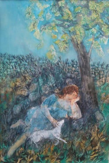 "<span class=""artist""><strong>Richard Sorrell PPRWS Hon. RE</strong></span>, <span class=""title""><em>Girl Beneath A Tree</em></span>"