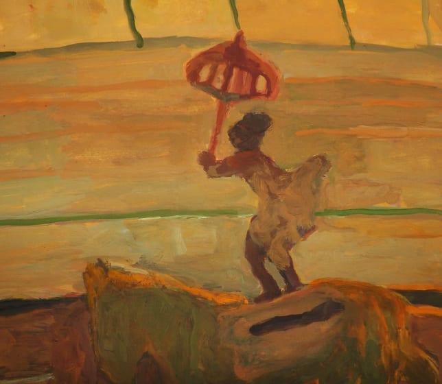 """<div class=""""artist""""><strong>Bridget Moore RWS</strong></div><div class=""""title""""><em>Red Brolly</em></div><div class=""""medium"""">gouache</div><div class=""""dimensions"""">39 x 33</div>"""