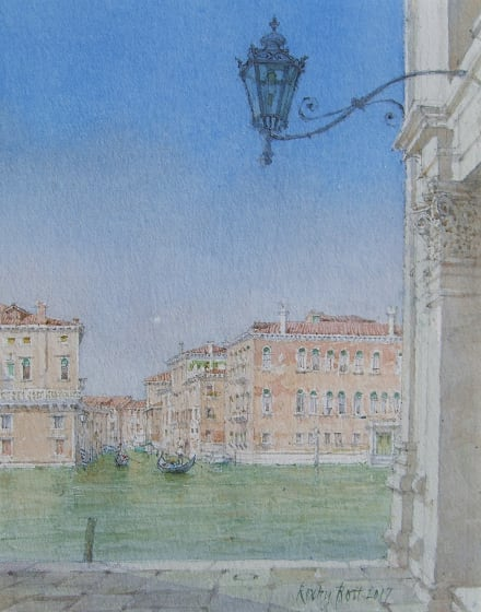 "<span class=""artist""><strong>Dennis Roxby Bott RWS</strong></span>, <span class=""title""><em>The Grand Canal From San Angelo, Venice</em></span>"
