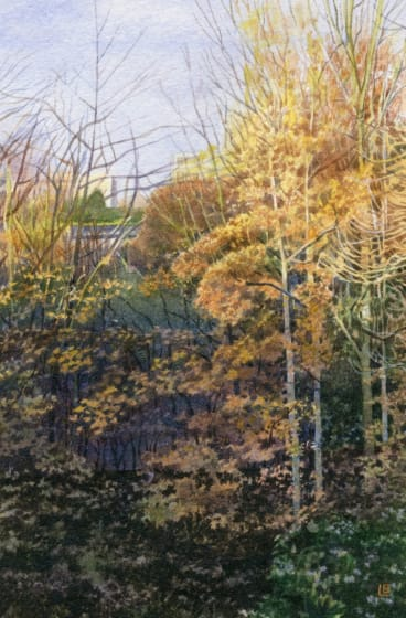 "<div class=""artist""><strong>Liz  Butler RWS</strong></div><div class=""title""><em>Autumn in the Park</em></div><div class=""medium"">watercolour</div><div class=""dimensions"">33 x 33</div>"