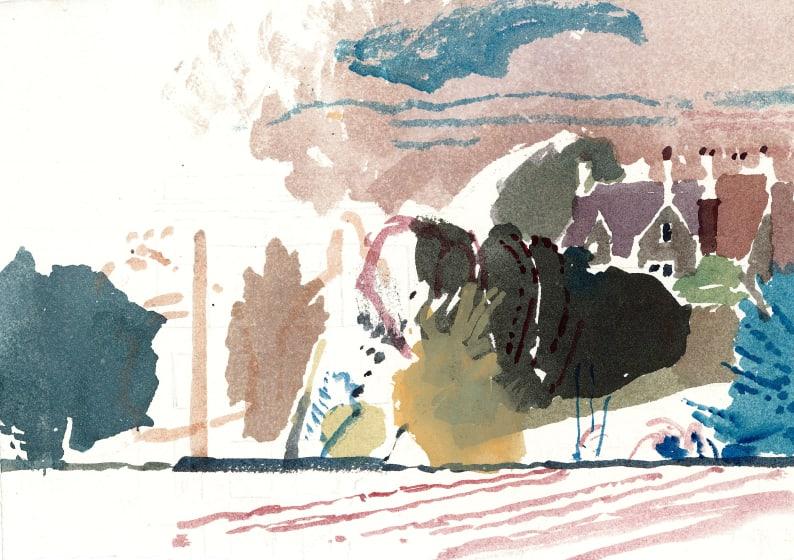 "<span class=""artist""><strong>Paul Newland RWS</strong></span>, <span class=""title""><em>Manor House Across the Fields</em></span>"