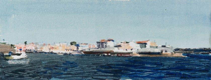 "<span class=""artist""><strong>John Newberry RWS</strong></span>, <span class=""title""><em>The Bay, Cala Font,  Minorca</em></span>"