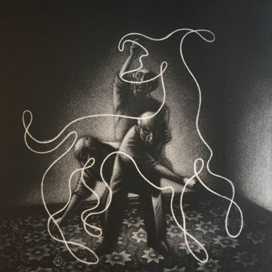Mychael Barratt PRE Picassos dog II mezzotint 47 x 45cm /100