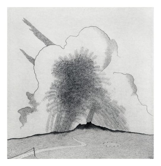 Brian Hanscomb RE Cloudburst over the Moor copperplate engraving 30.5 x 32.3cm 15/95