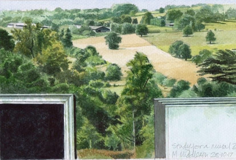 "<div class=""artist""><strong>Michael Middleton RWS RE</strong></div><div class=""title""><em>Study for a Mural</em></div><div class=""medium"">watercolour</div><div class=""dimensions"">32 x 28</div>"