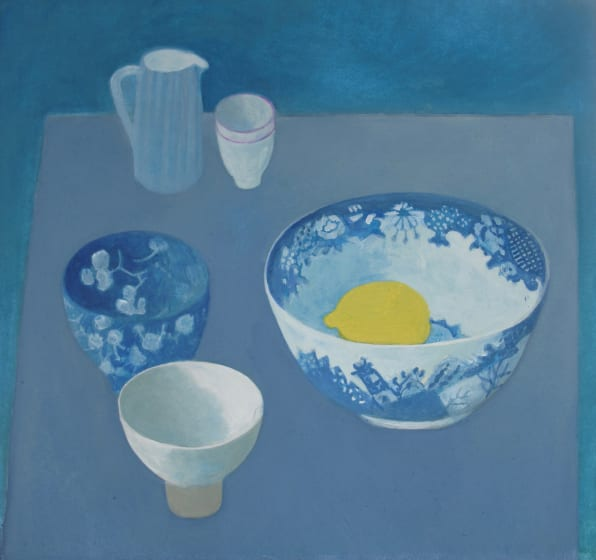 "<span class=""artist""><strong>Wendy Jacob RWS</strong></span>, <span class=""title""><em>Blue on blue</em></span>"