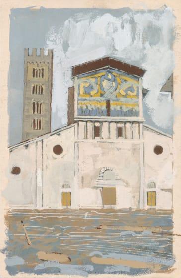 "<span class=""artist""><strong>David Cass ARWS</strong></span>, <span class=""title""><em>Lucca as Florence (Flash Flood, 1966)</em></span>"