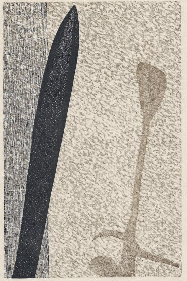 Peter S Smith RE Conversation wood & polymer engraving 30 x 40cm 5/20