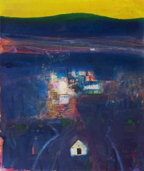 "<span class=""artist""><strong>Barbara Rae RA Hon. RWS</strong></span>, <span class=""title""><em>Camino del Noche</em></span>"