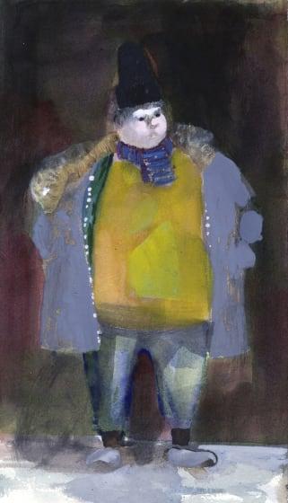 """<div class=""""artist""""><strong>Charles Williams RWS</strong></div><div class=""""title""""><em>Parka Man</em></div><div class=""""medium"""">watercolour & gouache</div><div class=""""dimensions"""">47 x 31</div>"""