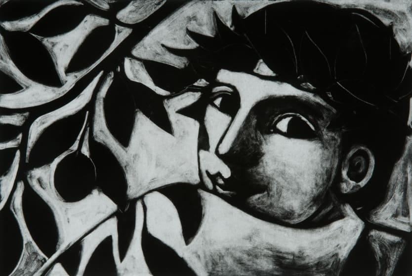 Anita Klein PPRE Hon. RWS The Plum Tree photo-polymer etching 53 x 69cm 7/15