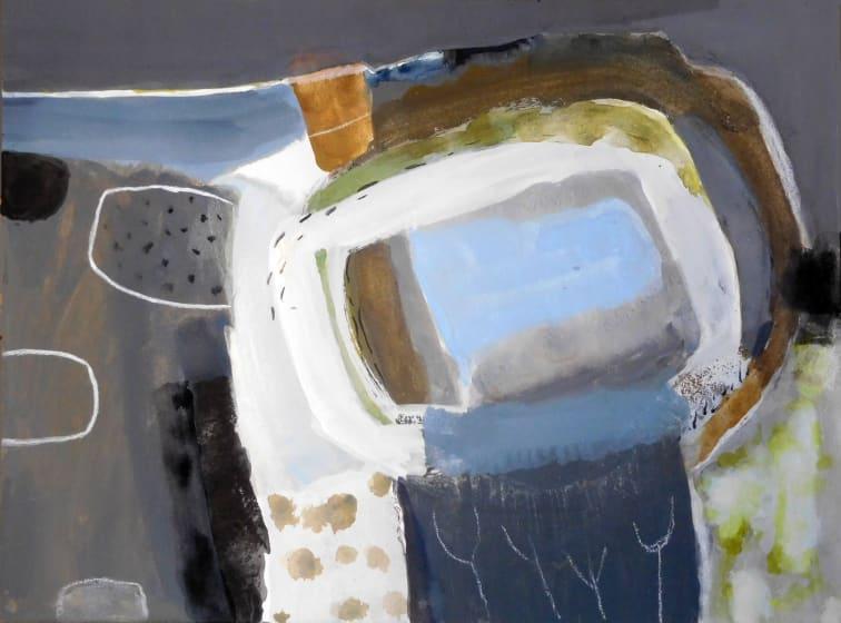 """<div class=""""artist""""><strong>Ann Wegmuller RWS</strong></div><div class=""""title""""><em>Frozen Garden  2</em></div><div class=""""medium"""">gouache</div><div class=""""dimensions"""">48 x 57</div>"""