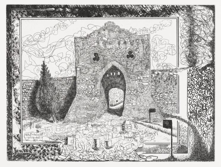 Paul Hawdon RE A View of Saguntum etching 50 x 60cm 8/40