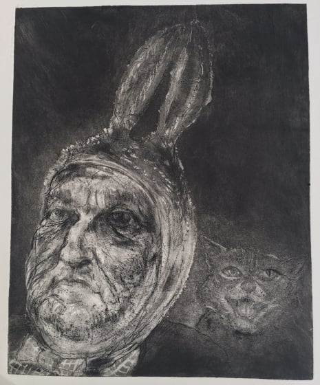"""<span class=""""artist""""><strong>Chris Salmon RE</strong></span>, <span class=""""title""""><em>Bunny and Cat</em></span>"""