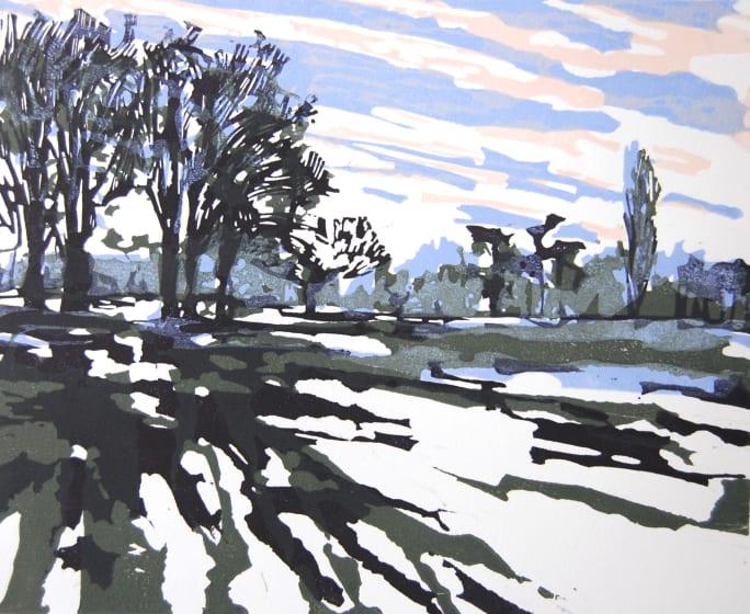 Rachel Gracey ARE The Parks 22 relief print 37 x 42cm 5/15