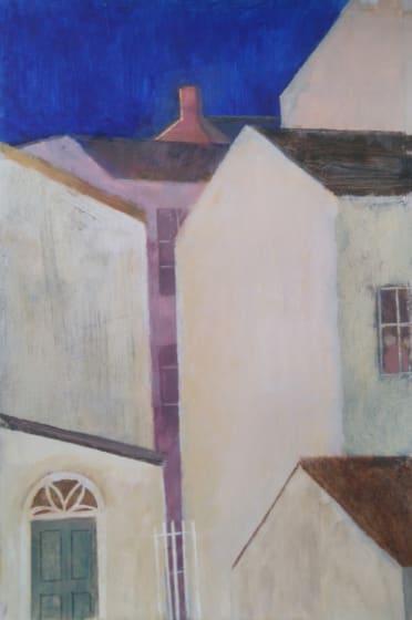 "<div class=""artist""><strong>Richard Sorrell PPRWS Hon. RE</strong></div><div class=""title""><em>Town Houses</em></div><div class=""medium"">acrylic</div>"