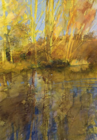 "<div class=""artist""><strong>Richard Pikesley RWS</strong></div><div class=""title""><em>Stour, Sun After Rain</em></div><div class=""medium"">watercolour</div><div class=""dimensions"">72 x 56</div>"