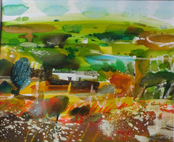 "<span class=""artist""><strong>Sue Howells ARWS</strong></span>, <span class=""title""><em>Preseli Hill Farm</em></span>"