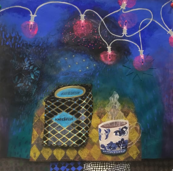 "<span class=""artist""><strong>Gertie Young ARWS</strong></span>, <span class=""title""><em>Fairy Lights with Aztec Cocoa</em></span>"
