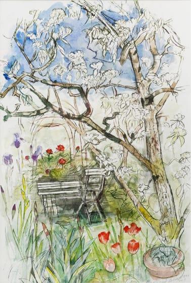 "<span class=""artist""><strong>Richard Bawden RWS RE</strong></span>, <span class=""title""><em>Pear Blossom</em></span>"