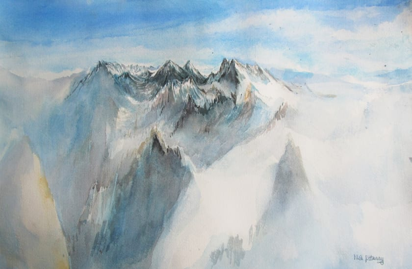 "<span class=""artist""><strong>Neil Pittaway RWS RE</strong></span>, <span class=""title""><em>View from the Midi, France</em></span>"