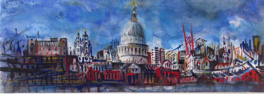 "<span class=""artist""><strong>Neil Pittaway RWS RE</strong></span>, <span class=""title""><em>St. Paul's from the Thames</em></span>"