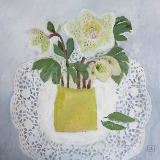 "<div class=""artist""><strong>Jill Leman PRWS</strong></div><div class=""title""><em>Spring is on the Way</em></div><div class=""medium"">watercolour & acrylic</div><div class=""dimensions"">32.5 x 32.5</div>"