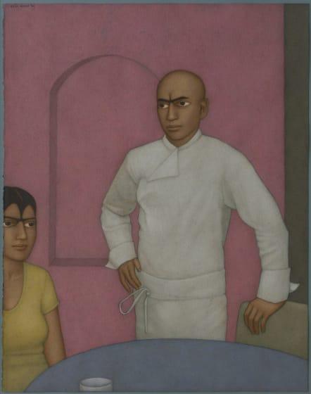 "<span class=""artist""><strong>Shanti Panchal Hon. RWS</strong></span>, <span class=""title""><em>The Last Order</em></span>"