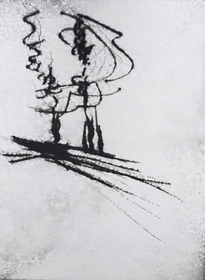 Edward Twohig ARE Morning Mist, Marlborough drypoint monoprint 50 x 62 cm No edition: unique one off print