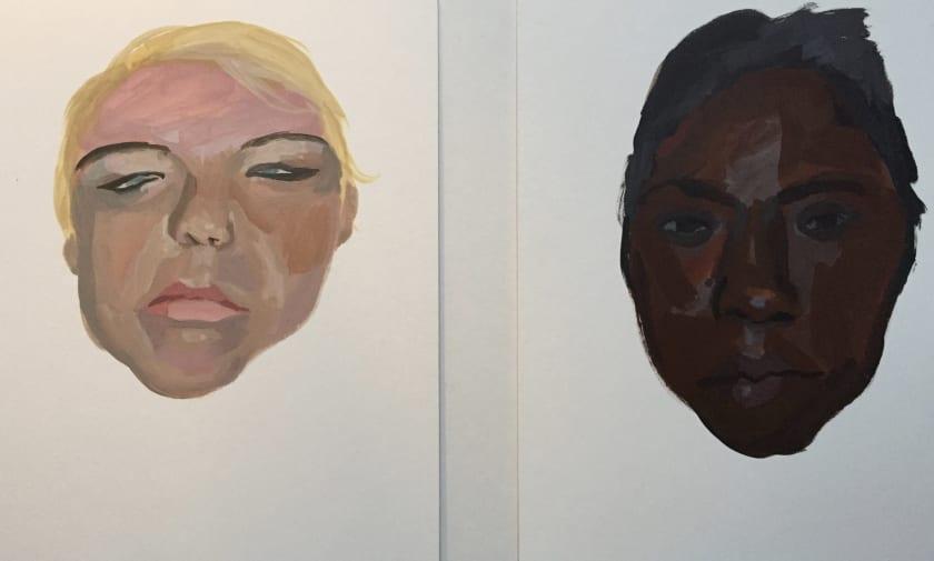 "<div class=""artist""><strong>Claire Parrish ARWS</strong></div><div class=""title""><em>Inmates of South Dakota Womens Prison</em></div><div class=""medium"">lascaux acrylic</div><div class=""dimensions"">50 x 35</div>"