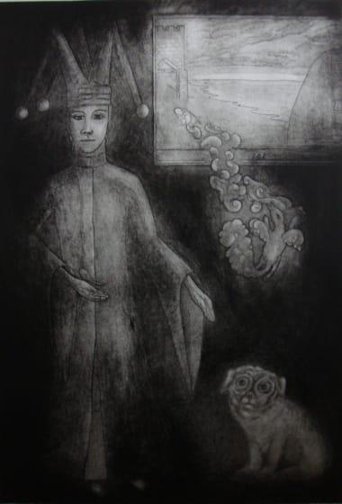 Linda Landers RE Magician etching & monotype 82 x 61cm 1/1