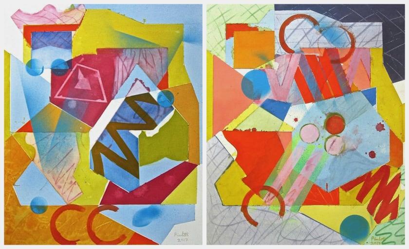 "<span class=""artist""><strong>Geoffrey Pimlott RWS</strong></span>, <span class=""title""><em>The Candy Crush Diptych</em></span>"