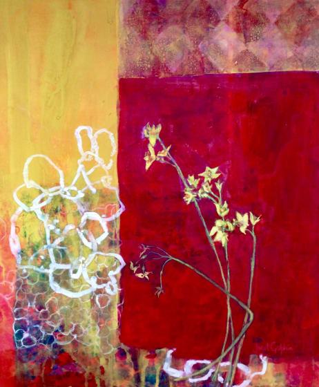 "<div class=""artist""><strong>Janet Golphin RWS</strong></div><div class=""title""><em>Cheerfulness </em></div><div class=""medium"">mixed media</div><div class=""dimensions"">81 x 71</div>"