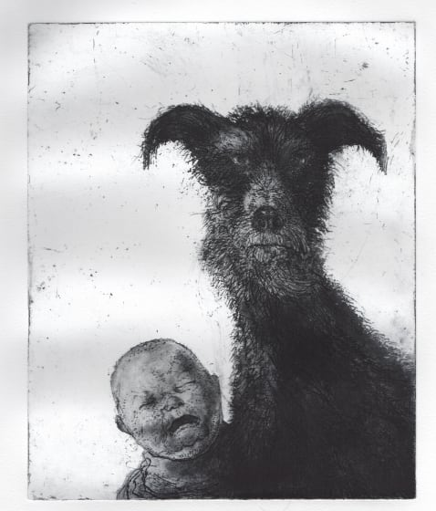Chris Salmon ARE Cry Baby etching