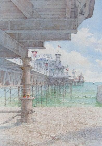 "<span class=""artist""><strong>Dennis Roxby Bott RWS</strong></span>, <span class=""title""><em>Brighton Pier</em></span>"