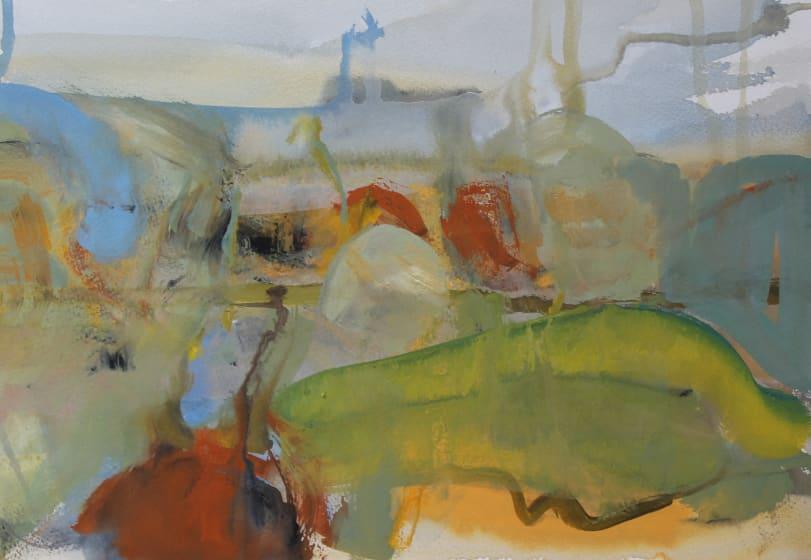 "<div class=""artist""><strong>Julie D. Cooper ARWS</strong></div><div class=""title""><em>Distant Parts</em></div><div class=""medium"">gouache</div><div class=""dimensions"">35 x 45</div>"