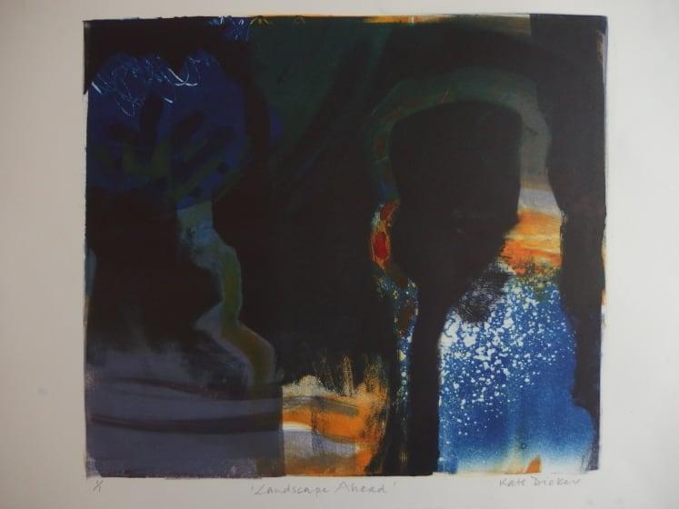 Kate Dicker RE Landscape Ahead monotype 38 x 56cm 1 of 1