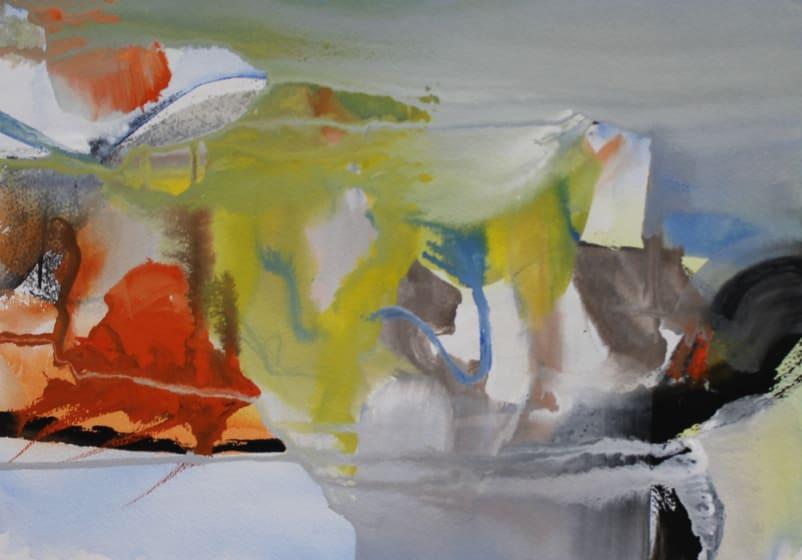 """<div class=""""artist""""><strong>Julie D. Cooper ARWS</strong></div><div class=""""title""""><em>To The Lighthouse</em></div><div class=""""medium"""">gouache</div><div class=""""dimensions"""">35 x 45</div>"""