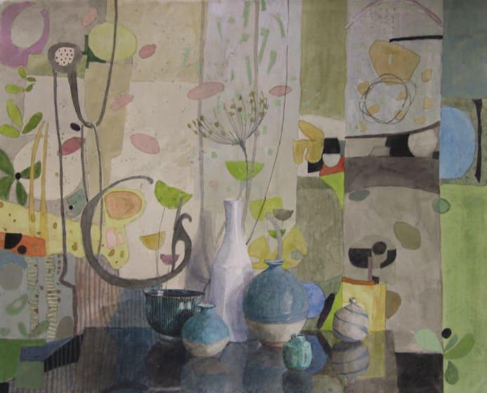 "<span class=""artist""><strong>Annie Williams RWS</strong></span>, <span class=""title""><em>Fantasy Garden</em></span>"