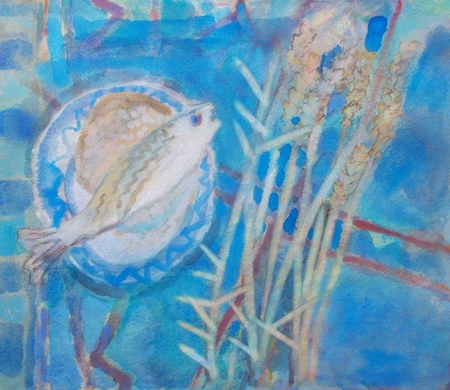 "<span class=""artist""><strong>Anne Marlow RWS</strong></span>, <span class=""title""><em>Simple Fare</em></span>"