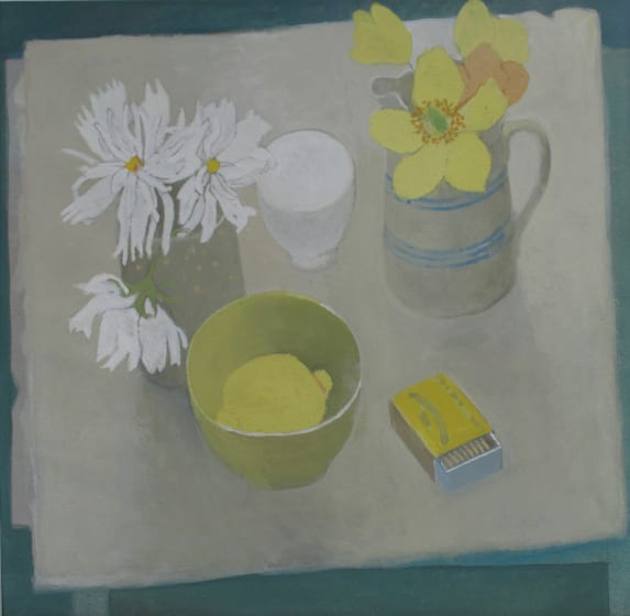 """<span class=""""artist""""><strong>Wendy Jacob RWS</strong></span>, <span class=""""title""""><em>Cosmos and Welsh Poppies</em></span>"""