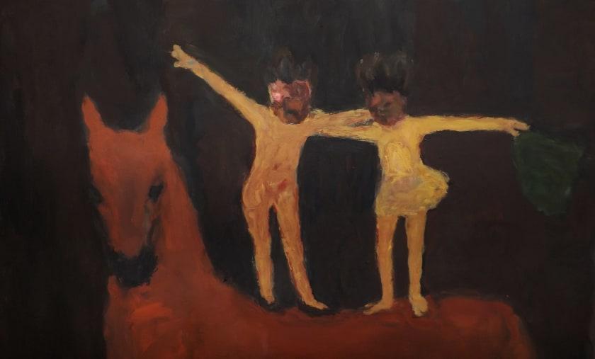 """<span class=""""artist""""><strong>Bridget Moore RWS</strong></span>, <span class=""""title""""><em>Red Horse</em></span>"""