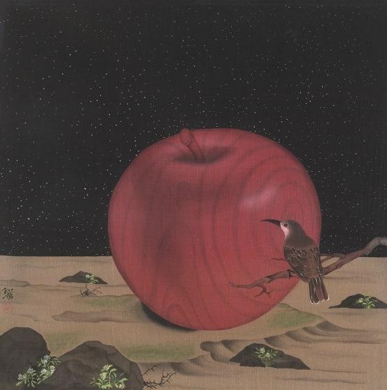 """<p class=""""cms_artist_title"""">Zhang Sunzhe</p><p class=""""cms_works_details""""><em>Fruit Love</em></p>"""