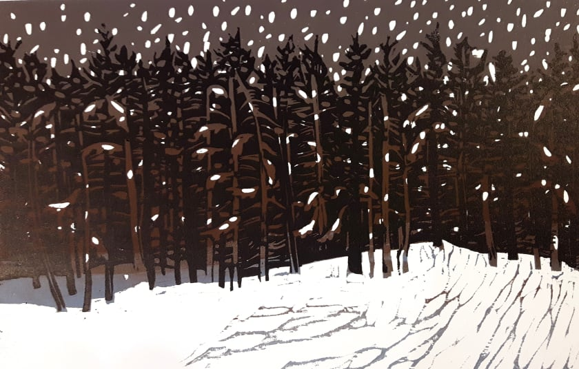 Merlyn Chesterman RE Forest woodcut 42 x 51 cm 3/50
