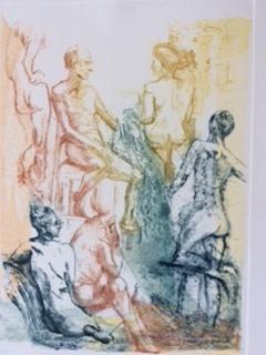Daphne Casdagli RE In Conversation drypoint & collograph 78 x 58cm 1/15