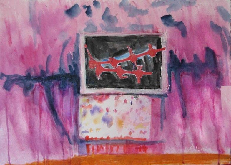 <span class=&#34;artist&#34;><strong>Agathe Sorel RWS RE</strong></span>, <span class=&#34;title&#34;><em>The Broken Fence</em></span>