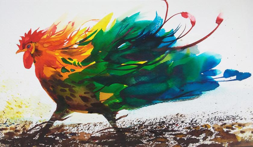 <span class=&#34;artist&#34;><strong>Sue Howells ARWS</strong></span>, <span class=&#34;title&#34;><em>In A Rush</em></span>